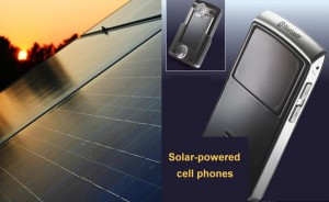 Solar-powered cellphone