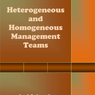 Heterogeneous and Homogeneous Management Teams